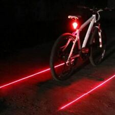 Bike Cycling Waterproof 5 LED 2 Lasers 3 Modes Taillight Warning Light