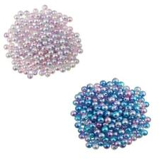 200Pcs 6mm Imitation Pearl ABS Plastic DIY Beads Jewelry Making Findings