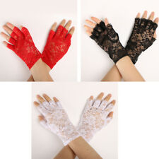 Wedding Bridal Lace Flower Half Finger Glove Party Accessories Glove Costume