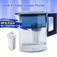 BPA FREE- Brand Water Filters Pitcher with 1 Advanced Pitcher Replacement Filter