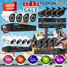 8CH 3000TVL/2000TVL 1080N DVR Security Camera CCTV Surveillance System + 1TB HDD