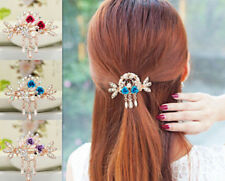 Hairpin Flower Tops Women Jewelry NEW Clip Hair Barrette Crystal Rhinestone