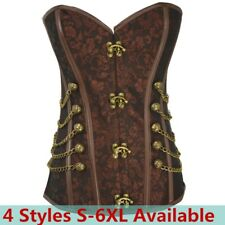 Women Corsage Steampunk Corset  Gothic Classic Corselet Steel Boned Busiter Top