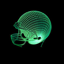 3D illusion LED Night light Desk Lamp 3D NFL Football Helmet  7 Color Change