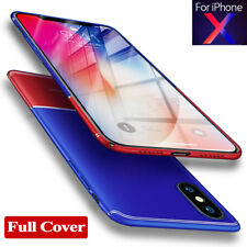 Newest Hard Acrylic Thin Bumper Back Case Cover for Apple iPhone X 8/8Plus Shell
