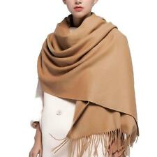 100% Lambswool Winter Scarf with Tassels for Women Oversized Wraps Wool Shawl