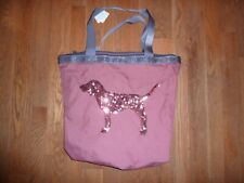VICTORIAS SECRET PINK BLING SEQUIN DOG LARGE DOG TOTE WITH OR WITHOUT BEAUTY NWT
