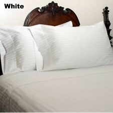 White Stripe Complete Bedding Collection 1000 TC Egyptian Cotton Queen Size