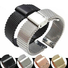 Stainless Steel Bracelet Strap Watch Mesh Replacement Band 18 20 22 24 mm gj9
