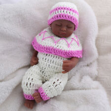 "10"" Reborn Baby Doll Black African American Silicone Vinyl Realistic Lifelike"