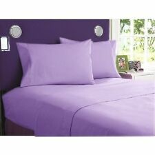 1000 TC 100%Egyptian Cotton All UK Size Bedding Item Lilac Solid/Striped