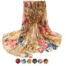 Fashion Womens Voile Stole Scarves Lady Long Neck Wraps Shawl Scarf Valentine's