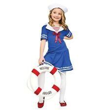 Child Sea Sweetie Sailor Costume Kids Girls Fancy Dress Party Outfit