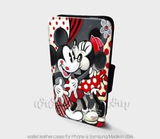 Mickey Minnie Mouse Wallet iPhone Cases Disney Samsung Wallet Leather Cases
