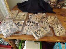 STAMPIN' UP WOOD MOUNTED STAMP SETS U CHOOSE FROM 14 SETS 115 RUBBER STAMPS