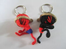 a couple muay thai Voodoo String Doll Keychain Ornament Accessory (Handmade)