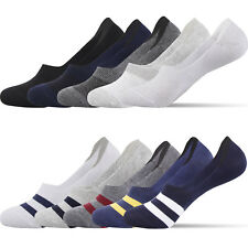 Mens Socks No Show Socks Low Cut Liner Athletic Sock Cotton Solid Striped 5 Pack