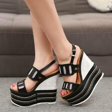16cm high heel sandals women wedges summer shoes new strew heel  sandal