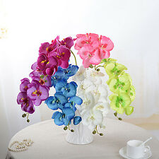 Artificial Butterfly Orchid Silk Flower Home Wedding Phalaenopsis Bouquet Decor