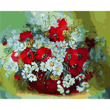 New Daisy Flower Abstract Painting By Number Kits Picture Oil Painting On Canvas