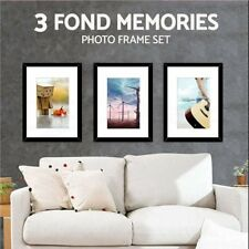 3Pcs A3 Photo Frame Set White/Black Picture Wall Home Decor Art Gift Present