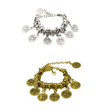 Behomia Jewelry Charming Cuff Bracelet Anklets Chain with Lucky Carved Coins