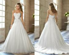 New A-Line White/Ivory Wedding Dress Bridal Gown Stock Size : 6 8 10 12 14 16 18