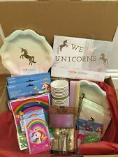 We Heart/Rainbow Unicorn Birthday Party Supplies - tableware/decorations/favours