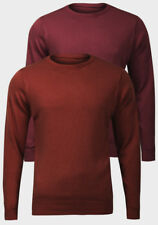Ex UK Chainstore Mens Knitted Jumper Burgundy Red/Brown Large