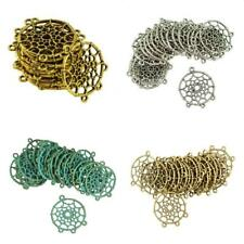 20PCS Dreamcatcher Charms Round Connector Charm Pendants Jewelry Findings