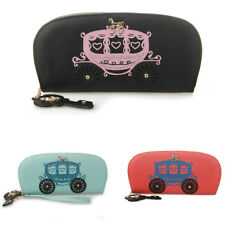 Women PU Leather Wallet Purse Clutch Bag Card Coin Holder Carriage Key Design