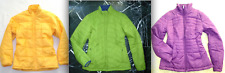 LANDS' END Green Yellow Purple Quilted Full Zip JACKET Coat M 10-12 S 6-8 Puffer