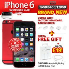 New&Sealed Factory Unlocked APPLE iPhone 6 16 64 128GB Red Smartphone 1 Yr Wrty