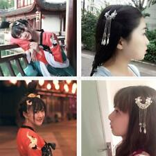 2pcs Vintage Silver Flower Hair Clips HanFu Style Chinese Hair Accessories