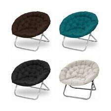 Oversized Moon Chair Dorm Folding Padded Saucer Chair Living Room Furniture XXL