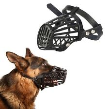 Adjustable Basket Mouth Muzzle Cover For Dog Training Bark Bite Chew Control SU