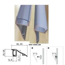 6 to10Packs x 1m/3.3ft Wall Mount LED Aluminum Channel Profile for led strip