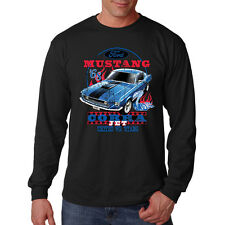 Ford Mustang Cobra Jet Hot Rat Rod Classic Muscle Car Long Sleeve T-Shirt Tee