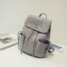 Fashion String Pu Leather Backpack Women Bag New School Bag For Teenagers