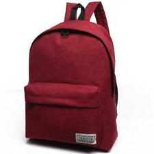 Fashion Simple Canvas Backpack Male High Quality School Laptop Backpack Female