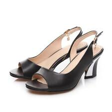 Genuine Leather Shoes Women Sandals Peep Toe High Heels Real Leather Sandals