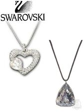Swarovski Emotion Heart or Crystal Trillion Pendant Necklace 4 Valentine's Day