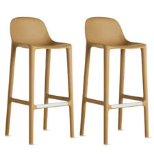 AUTHENTIC Emeco - Broom Barstool Natural - SET OF 2 - Design Within Reach DWR
