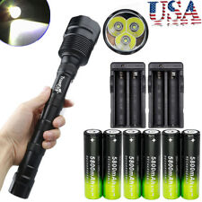 50000Lumens TrustFire 3X T6 LED Flashlight Torch Light Lamp 6X18650/Charger Lamp
