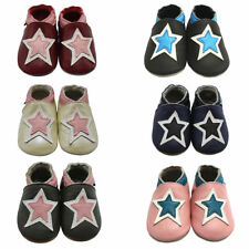 Mejale Baby Shoes Soft Leather Sole Toddler Infant First Walker Moccasin w/ Star