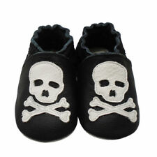 Mejale Baby Shoes Soft Leather Sole Toddler Infant LO Walking Moccasins w/ Skull