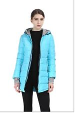 Women's Winter Jacket Hooded Cotton-Padded Coat Plus Size Down Jacket Button Poc