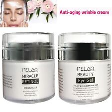 1.7Fl Oz Anti Aging Wrinkles Retinol Moisturizer Cream Kit W/ Eye Massage Stick