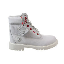 Timberland 6 Inch Juniors Big Kids' Boots White Full-Grain TB0A1PKX