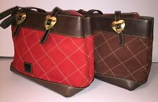 Dooney & Bourke Nubuck Leather Quilted Shopper Chestnut or Red Style QK234 NWT